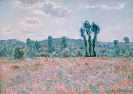 Monet, Claude: Poppy Field (1887). Fine Art Print/Poster. Sizes: A4/A3/A2/A1 (001497)